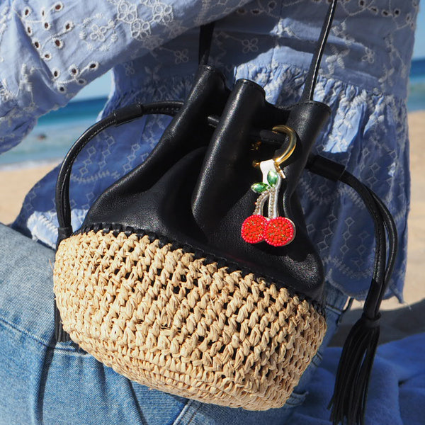 Cherry - Key Holder Red, Cherry, Fruit, Emoji
