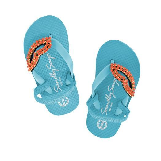 Kids and Baby Lips Blue Sandals