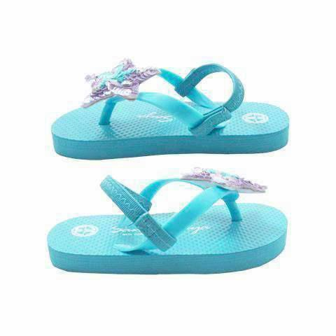 Sky Blue Kids / Baby Sandals Cute Stars View