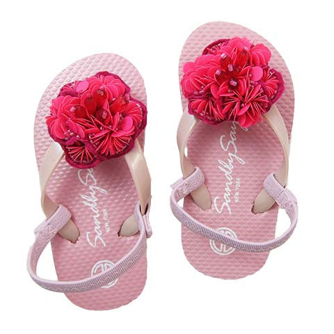 Pink, Flower, Red, Sandal, Noho, Bead