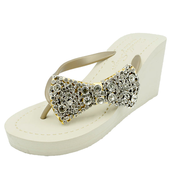 Madison - Women's High Wedge, crystal, studs, sparkle