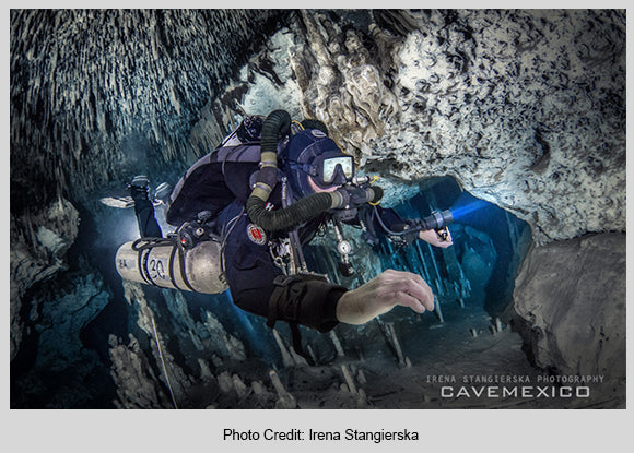 Solution Cave Mexico Diver