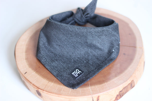 Black Denim Bandana (only available in S)