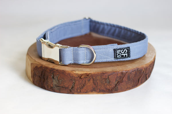 Blue Linen Collar (only available in S)