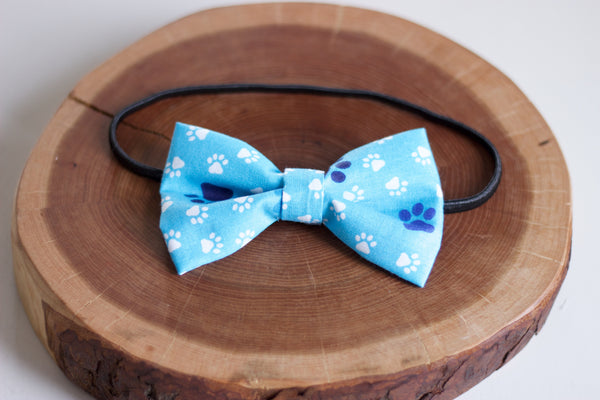 Blue Paws Bow Tie