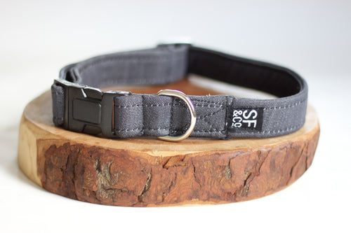 Grey Denim Collar