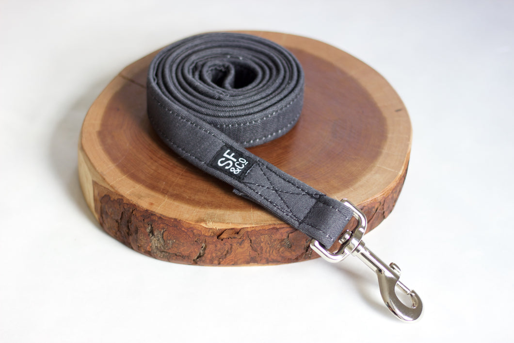 Grey Denim Leash