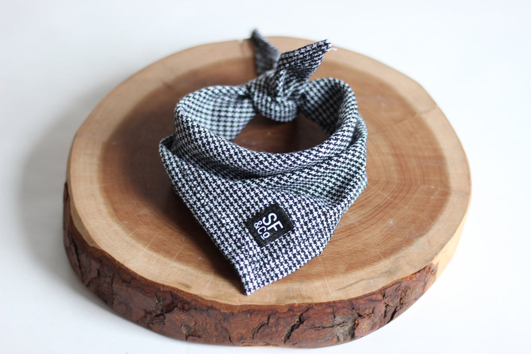 Grey Tweed Bandana