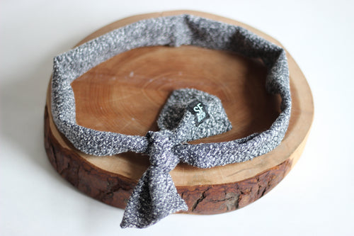 Grey Tweed Headband