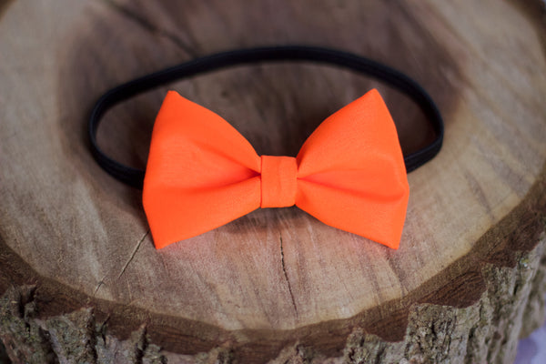 Blaze Orange Bow Tie