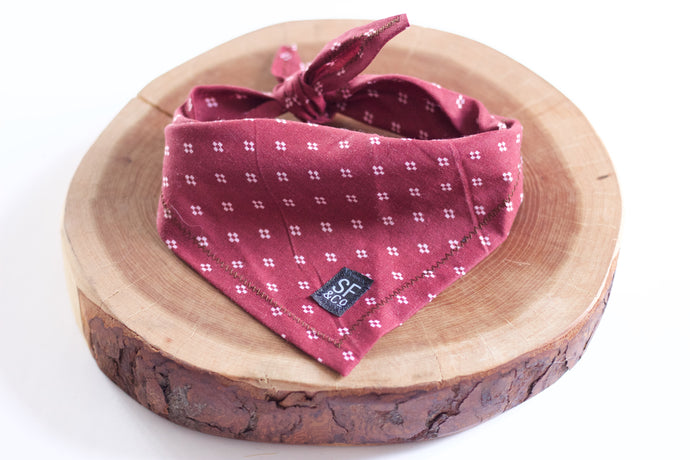Maroon Diamond Bandana