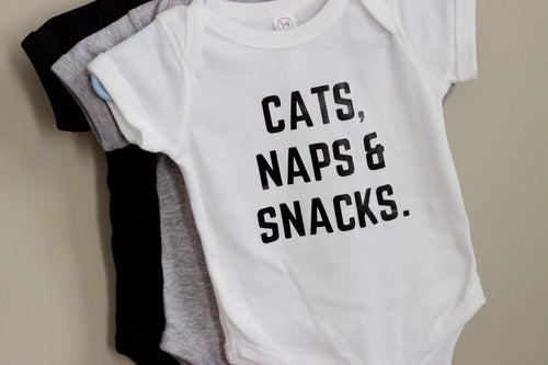 Cats, Naps & Snacks Onesie