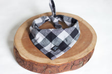 Grey Buffalo Plaid Bandana