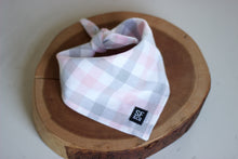 Pink & Grey Plaid Bandana