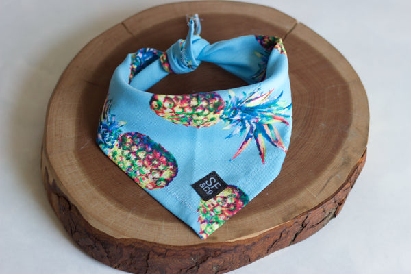 Blue Pineapple Bandana