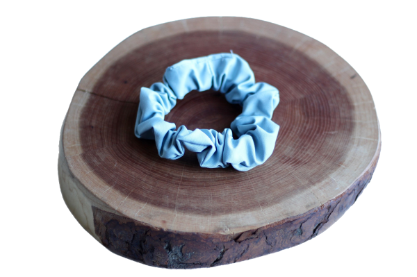 Windy Blue Scrunchie