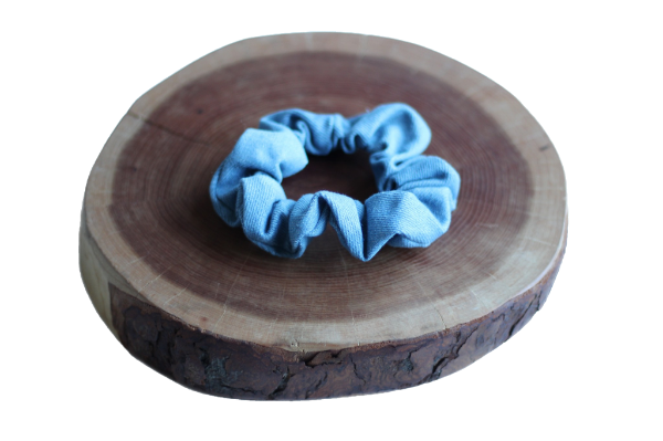 Blue Denim Scrunchie