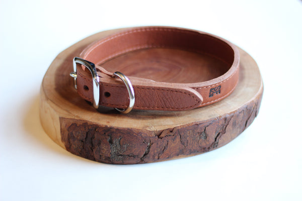 Tobacco Leather Collar