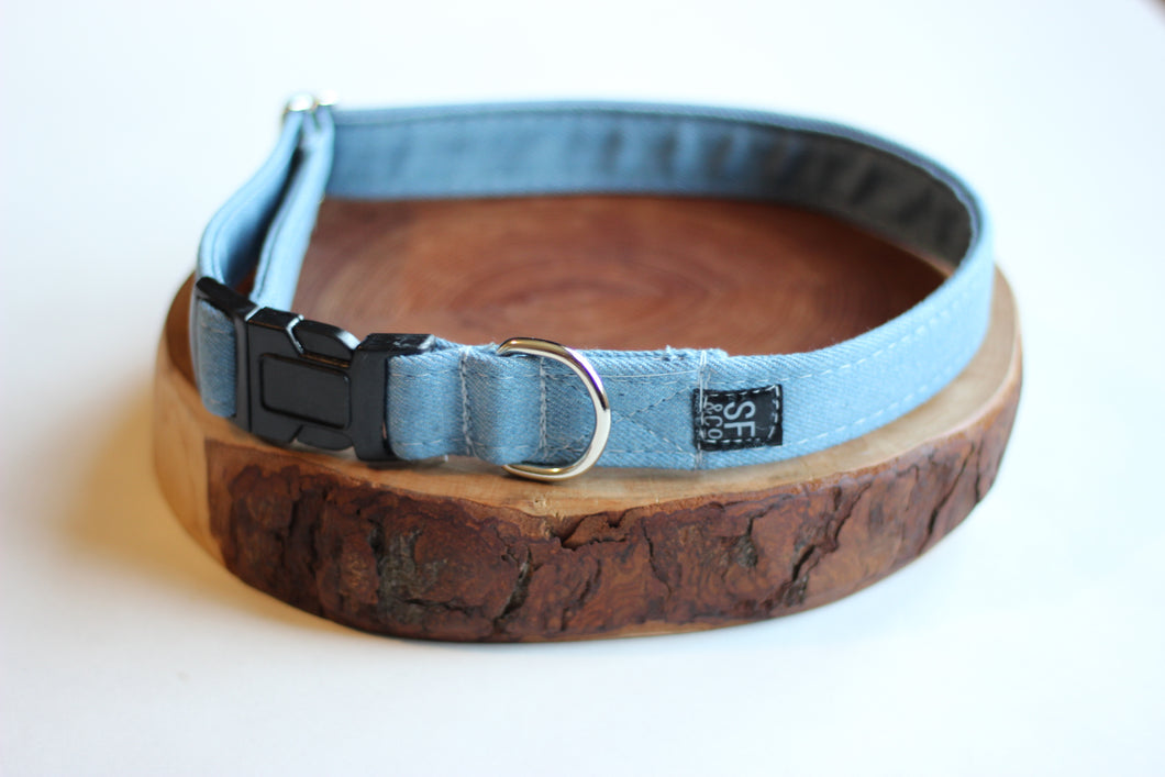 Blue Denim Collar