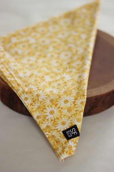 Yellow Floral Bandana