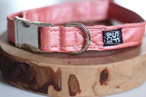 Peach Pleather Collar