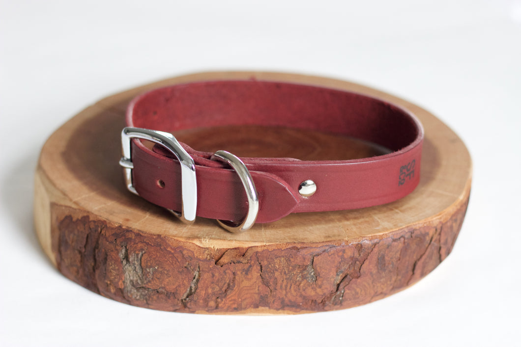 Oxblood Leather Collar