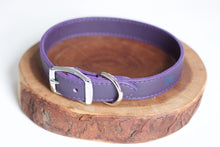 Purple Leather Collar