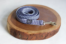 Navy Gingham Leash