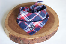 Navy & Red Plaid Bandana