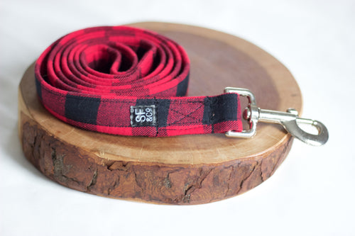 Red Buffalo Plaid Leash