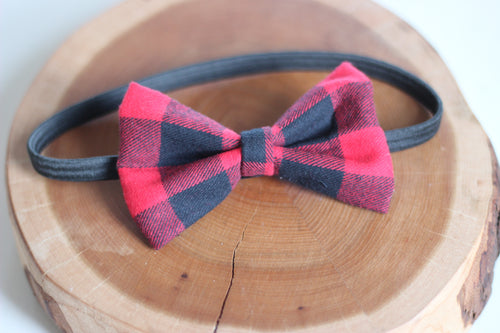 Red Buffalo Plaid Bow Tie