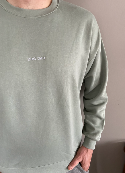 Sage Dog Dad Crewneck Sweatshirt