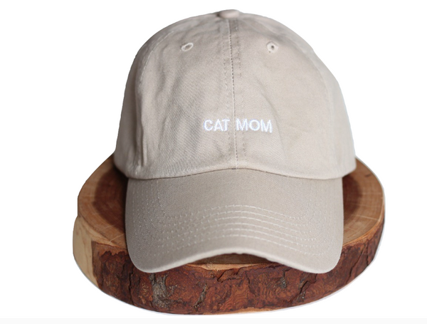 Tan Cat Mom Dad-Hat