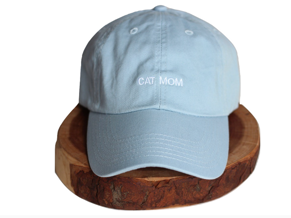 Baby Blue Cat Mom Dad-Hat