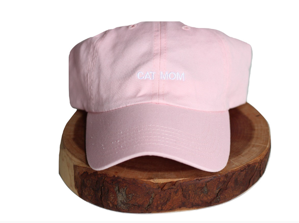Pink Cat Mom Dad-Hat