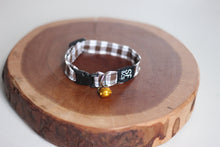 Brown Gingham Collar