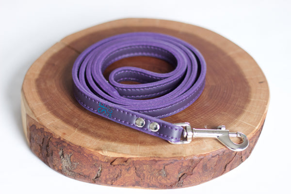 Purple Leather Leash
