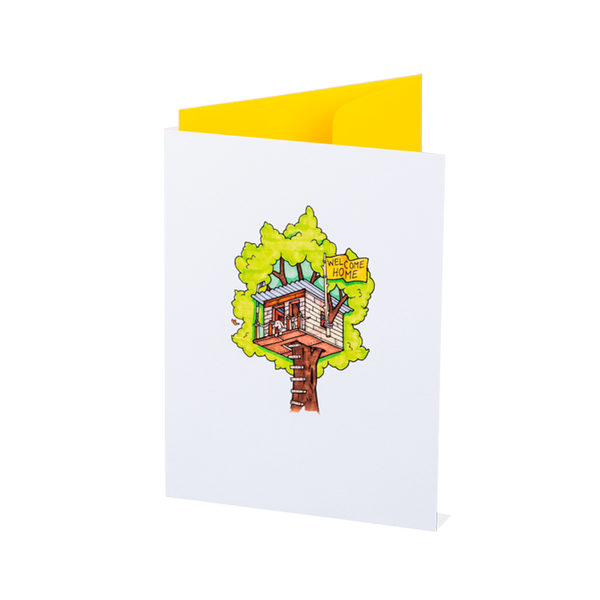 Tree-House-Warming Card
