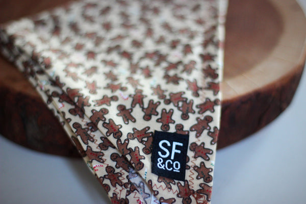 Gingerbread Bandana (only available in S)