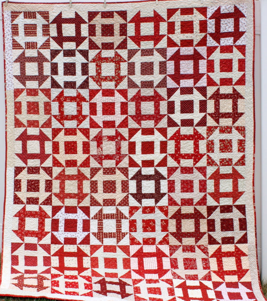 Fast Churn Dash Quilt Pattern  PDF VERSION