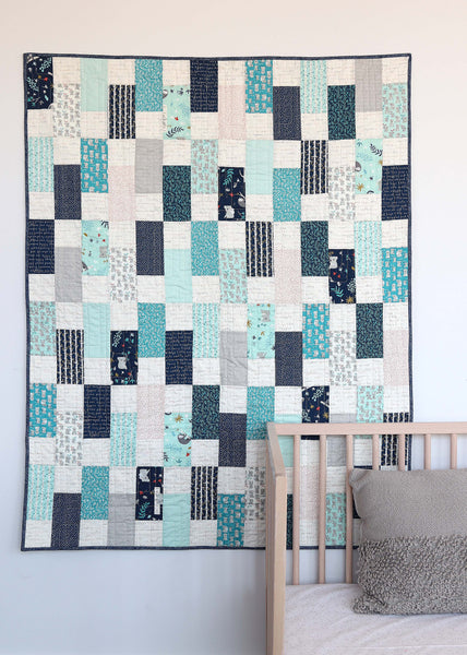 Easy Bricks Throw & Crib Size Pattern PDF