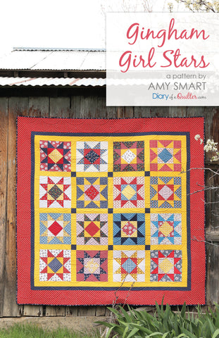 Gingham Girls Stars - PAPER PATTERN