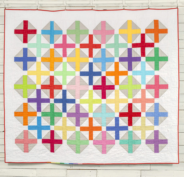 Hopscotch modern quilt pattern HARD COPY