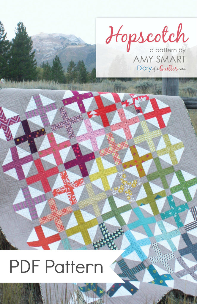 Hopscotch modern quilt pattern PDF VERSION