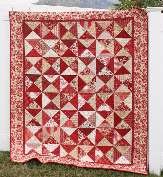 Hour Glass Quilt pattern PDF VERSION