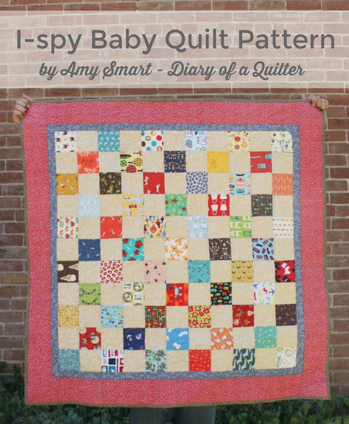 "65 I-Spy 3.5"" x 3.5"" squares + Quilt Pattern"