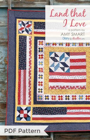 Land That I Love medallion quilt - PDF PATTERN