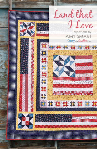 Land That I Love medallion quilt - PAPER PATTERN