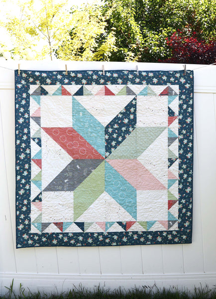 Lone Star Crib Quilt with Sawtooth Border PDF