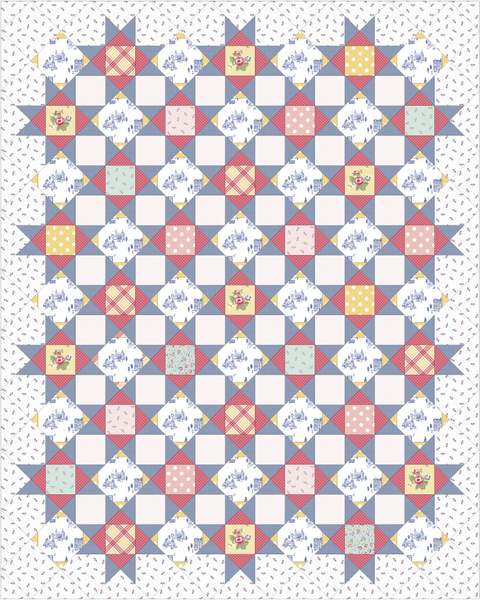 "Palace Court Notting Hill Quilt Kit - Twin size (68"" x 85"")"